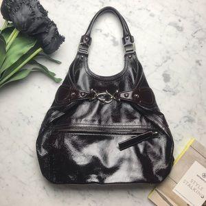 Givenchy Espresso Patent Leather Shoulder Tote Bag